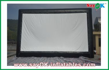 China Professional Cloth Inflatable Movie Screen , Inflatable Outdoor Screen For Events supplier