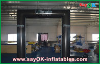 China PVC Cube Square Inflatable Door Arch Model Waterproof Foldable Gate With Logo company