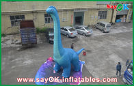 China Dinasour Inflatable Cartoon Characters Oxford Cloth For Advertising factory