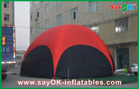 China 3 M Red Hexagon Large Outdoor Inflatable Tent PVC For Vocation company