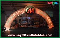 China Oxford Cloth Lighted Inflatable Entrance Arch 7*4m Terminal Point For Sport company