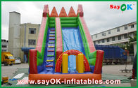 China Safety PVC Tarpaulin Inflatable Bouncer Slide Yellow / Green Color For Playing factory