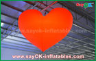 China 1.5m Romantic Led Lighting Red Heart Outdoor Inflatable Decorations For Wedding factory