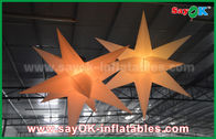 China Nylon Advertising LED Star Balloon Outdoor Inflatable Decorations WIth CE / UL Blower factory