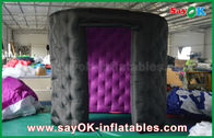 China Fashionable Black Oval Inflatable Photo Booth Tent Rounded Igloo With 2 Doors factory