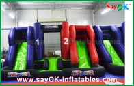 China Blue And Red Inflatable Large Bouncer Slider Castle Kids Palying Toys For Children factory