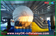 China Outdoor AirPlane Shape Inflatable Bounce Slider With CE / UL Blower For Playing factory