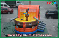 China 0.55 PVC Pirate Boat Bounce Inflatable Jumping Castle For Kids SGS Certification factory
