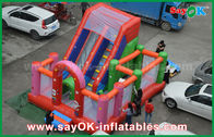 China Red PVC Inflatable Bounce Waterproof Blast Zone Magic Inflatable Bouncy Castle factory