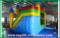 China Children Blue / Yellow Commercial Inflatable Bounce House With Slide 3 Years Warranty factory