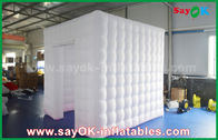 China Picture Painting Inflatable Photo Booth Tent 2.5m Full White Oxford Inflatable Cube factory
