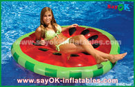 China Yellow / Red / Fruit Slice Pool Float Raw Inflatable Pool Toys For Swimming factory