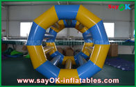 China Yellow / Blue Funny Rolling Inflatable Water Toys Inflatable Pool Toys For Water Park factory