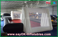 China 0.55mm PVC Custom White / Black Inflatable Soccer Field Commercial Grade Inflatables factory