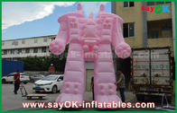 China Pink Oxford Cloth / PVC Inflatable Robot For Outside Advertising Products factory