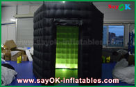 China 1 Door 2.5m Custom Black / White Inflatable Photo Booth With LED Light Oxford Cloth factory