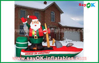 China Customzied Various Inflatable Santa Claus Cartoon Characters For Christmas factory