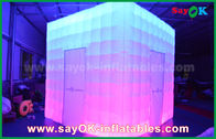 China Customized  Shape PVC Coating Inflatable LED Photo Booth With Charming factory