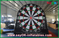 China Black Inflatable Sports Games / Customized PVC Inflatable Soccer Dart Board factory