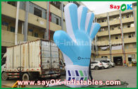 China Giant Oxford Custom Inflatable Products , 2m  tall  Inflatable Blue Hand Model for Events factory