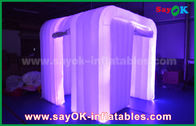 China White Oxford Cloth Led Strip Lighting Inflatable Photo Booth for Wedding Decoration factory