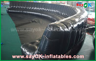 China Eco-friendly Custom Inflatable Products 6 - 10m Black Hermetically Sealed 0.6mm PVC Inflatable Sofa factory