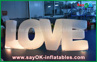 China Colorful Inflatable Letter Love With Led light For Party / Wedding Decoration factory