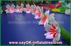 China 8m Long Nylon Inflatable Lighting Decoration Lily Flower Chai For Wedding factory