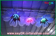 China 1m Dia Inflatable Hanging Lily Flower With RGB Lighting Decoration factory