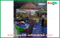 China Vivid Brown Inflatable Mushroom with LED light Inside for Show Decoration factory