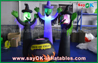 China 210D Oxford Cloth Inflatable Scary Ghosts and Magic Jar with LED Lighting for Halloween factory