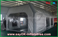 China Prefessional Gray Waterproof PVC and Oxford Cloth Inflatable Paint Booth for Car Painting factory