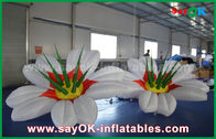 China 190T Nylon Color Changeable Inflatable Flower Lighting Decoration For Wedding factory