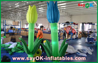 China Oxford Cloth Custom Inflatable Products , LED Inflatable Double Flower For Stage Decoration factory