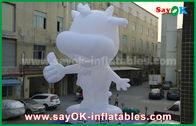 China Custom Inflatable Cartoon Characters White Cattle 10m Height factory