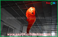 China CE Inflatable Lighting Decoration , Custom Inflatable Red Sea Horse For Exhibition factory