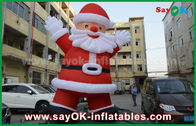China Custom Height Inflatable Holiday Decorations , Outdoor Inflatable Santa Claus factory