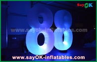 China Jellyfish Type Inflatable Lighting Decoration LED Light Numbers 8 8 For Showing factory
