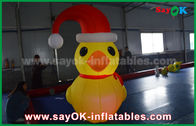 China RGB Led Lighting Yellow Duck Inflatable Model With Blower For Event ROHS factory