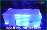 China LED Light Inflatable Cube Tent / Full-Digital Printing Outdoor Party Tent factory