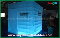 China Portable Inflatable Led Cube Photo Booth Props Fire-Resisitant factory