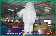 China 6m High White Inflated Cartoon Model , Customize Size Inflatable Character For Event factory