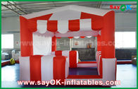 China Red And White 210 D Oxford Cloth Inflatable Bounce For Children factory