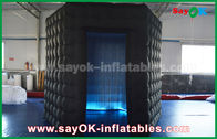 China 1 Door Diamond Oxford Cloth Inflatable Led Cube Photo Booth For Trade Show factory