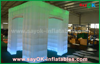China Green Color Inflatable Led Photo Booth For Wedding / Club / Party factory
