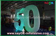 China Customized Inflatable Number With LED Light For Event Advantages factory