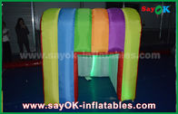 China Rainbow Colorful Colors Inflatable Photo Booth Props Portable Inflatable Tent factory