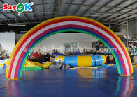 Good Quality Inflatable Air Tent & 210D Oxford Cloth 6*3mH Inflatable Rainbow Arch For Rental Business on sale