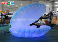 Good Quality Inflatable Air Tent & Giant 4mH Colorful Lighting Inflatable Led Shell For Wedding Decoration on sale