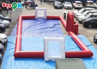 China 20*8m Red PVC Tarpaulin Inflatable Sports Games Outdoor Football Field factory